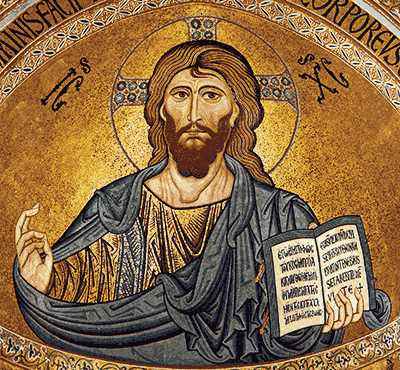 Christus Pantocrator in the apsis of the cathedral of Cefalu, c. 1130