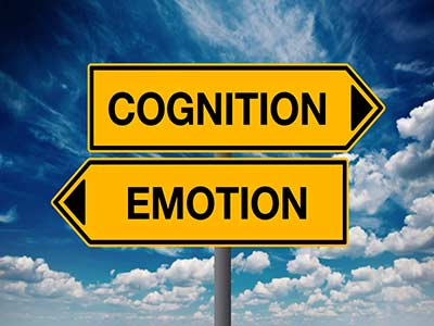 Two signs displaying Cognition and Emotion