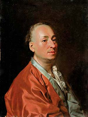 Portrait of Denis Diderot oil on canvas by Dimitry Levitzky 1773