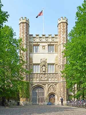 Great Gate main entrance to Trinity College, Cambridge University